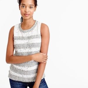 NWT Jcrew Fringe Top in Tweed and Lace